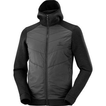 Salomon SIGHT HYBRID M, moška pohodna jakna, črna