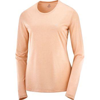Salomon AGILE LS TEE W, ženska tekaška majica, oranžna