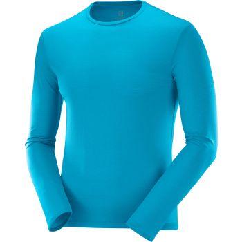 Salomon AGILE LS TEE M, moška tekaška majica, modra