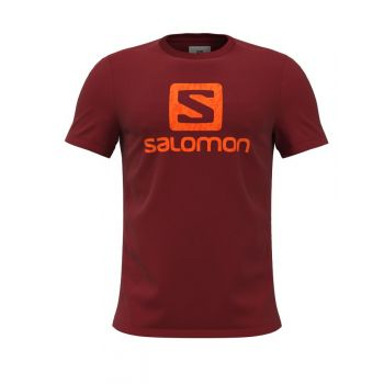 Salomon OUTLIFE LOGO SS TEE M, moška tekaška majica, rdeča