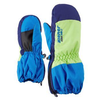 Ziener LEVI AS MINIS, otroške smučarske rokavice, modra