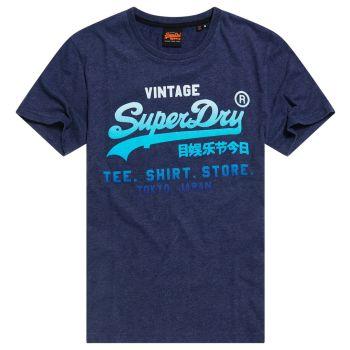 Superdry VL FADE T_SHIRT STORE TEE, moška majica, modra