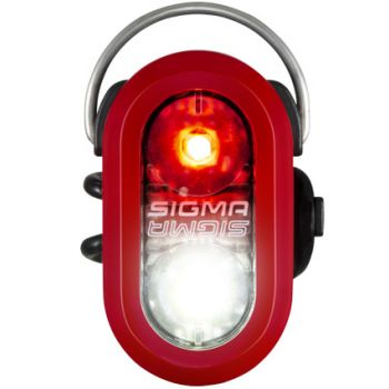 Sigma MICRO DUO SAFETY LIGHT, kolesarska svetilka, rdeča