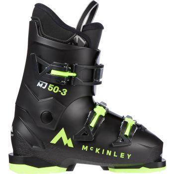 McKinley MJ 50-3, otroški smučarski čevlji, črna