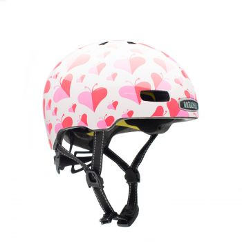 Nutcase LITTLE NUTTY, otroška kolesarska čelada, roza