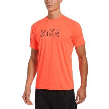Nike Swim SHORT SLEEVE HYDROGUARD, maja, oranžna