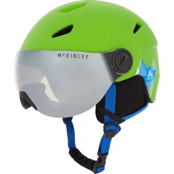 McKinley PULSE JR S2 VISOR HS-016, otroška smučarska čelada, zelena