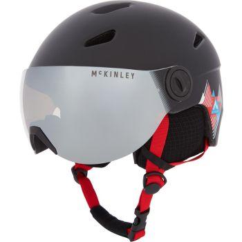 McKinley PULSE JR S2 VISOR HS-016, otroška smučarska čelada, črna