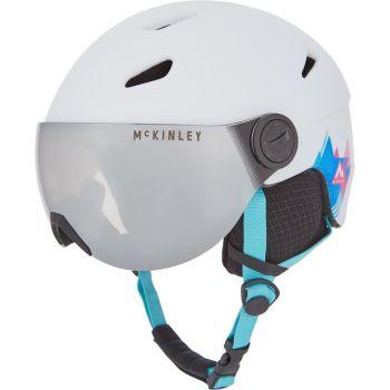 McKinley PULSE JR S2 VISOR HS-016, otroška smučarska čelada, bela