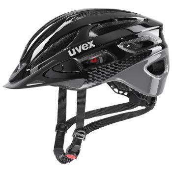 Uvex TRUE, kolesarska čelada, črna