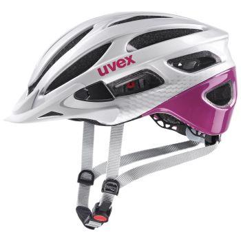 Uvex TRUE, kolesarska čelada, srebrna