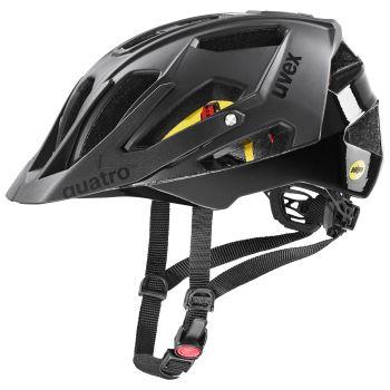 Uvex QUATRO CC MIPS, kolesarska čelada, črna