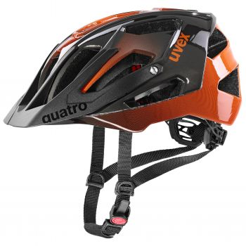 Uvex QUATRO, kolesarska čelada, črna