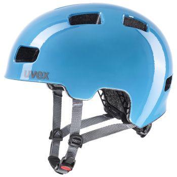 Uvex HLMT 4, otroška kolesarska čelada, modra
