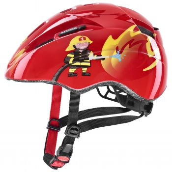 Uvex KID 2, otroška kolesarska čelada, rdeča