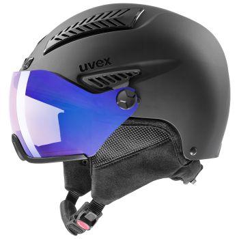 Uvex HLMT 600 VISOR VARIO, smučarska čelada, črna