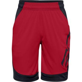 Under Armour CURRY BOYS BASKETBALL SHORT, hlače, rdeča