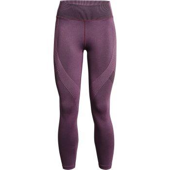 Under Armour RUSH SEAMLESS 7/8 LEGGING, ženske fitnes 7/8 pajke, vijolična