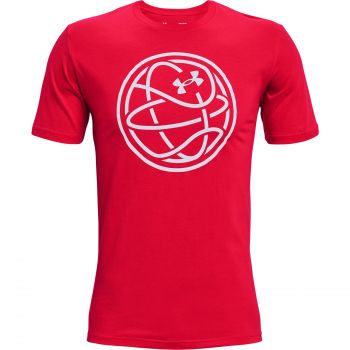 Under Armour HOOPS ICON TEE, majica, rdeča