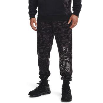 Under Armour RIVAL FLC CAMO SCRIPT JGR, moške hlače, črna