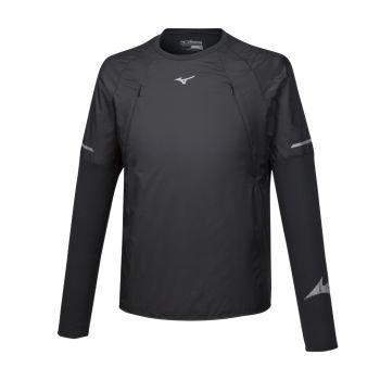 Mizuno HINERI HYBRID LS TEE, moška tekaška majica, črna