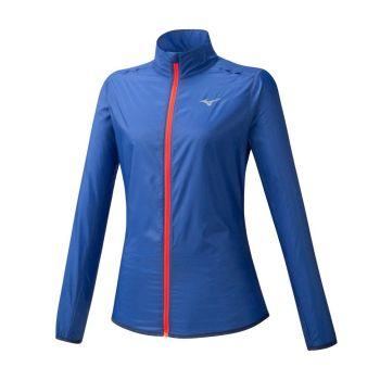 Mizuno HINERI POUCH JACKET, ženska tekaška jakna, modra