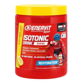 Enervit ISOTONIC DRINK LIMONE + BIDON, športna prehrana, rdeča