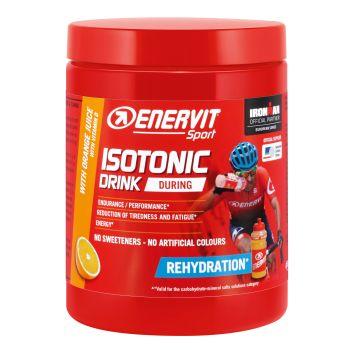 Enervit ISOTONIC DRINK ORANGE + BIDON, športna prehrana, rdeča