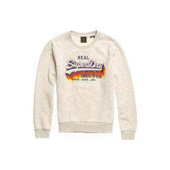 Superdry VL RETRO RAINBOW CREW, moški pulover, bež