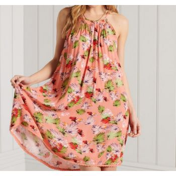 Superdry BEACH CAMI DRESS, obleka, roza