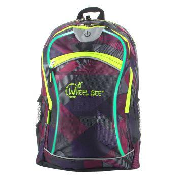 Wheel Bee LED NIGHT-VISION 30, otroški nahrbtnik, vijolična