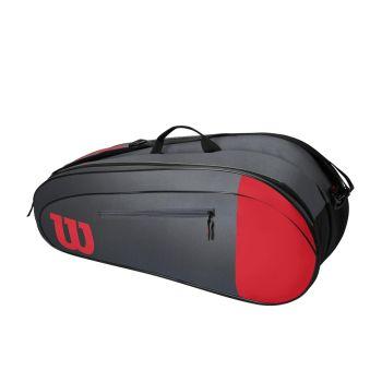 Wilson TEAM 6 PACK, torba, rdeča