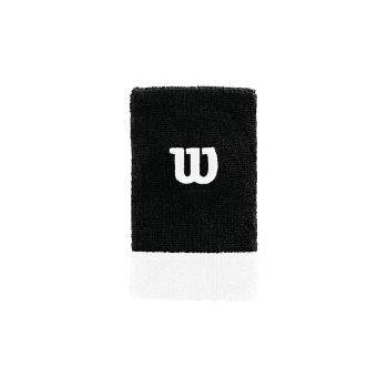 Wilson EXTRA WIDE W WRISTBAND, teniški znojnik, črna