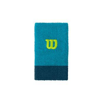 Wilson EXTRA WIDE W WRISTBAND, teniški znojnik, modra
