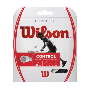 Wilson FIERCE CX BMTN STRING, struna badminton, črna