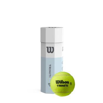 Wilson TRINITI TBALL 3 BALL CAN, žoga za tenis, bela