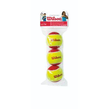 Wilson STARTER RED 3 PACK, žoga za tenis, rumena