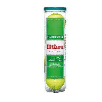 Wilson STARTER PLAY GREEN 4ER, žoga za tenis, rumena