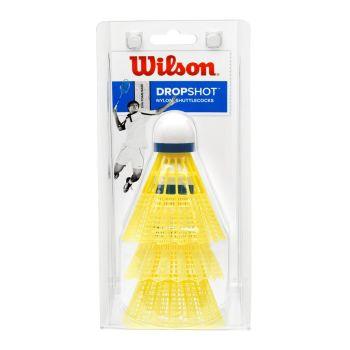 Wilson DROPSHOT SHUTTLECOCKS 3 PACK, žogica za badminton, rumena