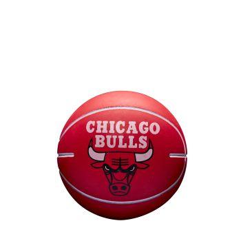 Wilson NBA DRIBBLER CHICAGO BULLS, žoga mini, rdeča