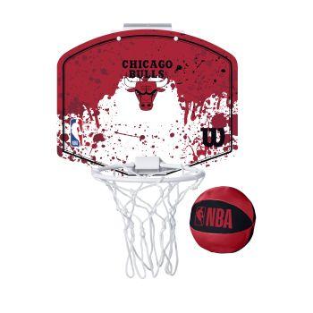 Wilson NBA TEAM MINI HOOP CHICAGO BULLS, košarkarska tabla z obročem, rdeča