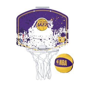 Wilson NBA TEAM MINI HOOP LA LAKERS, košarkarska tabla z obročem, vijolična