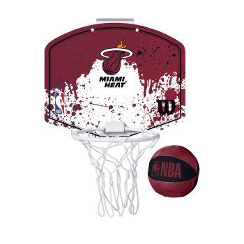 Wilson NBA TEAM MINI HOOP MIAMI HEAT, košarkarska tabla z obročem, rdeča