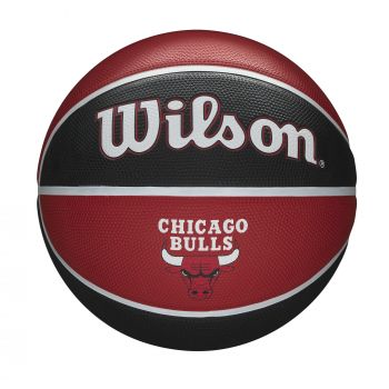 Wilson NBA TEAM TRIBUTE CHICAGO BULLS, košarkarska žoga, rdeča