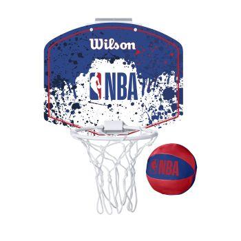 Wilson NBA TEAM MINI HOOP NBA, košarkarska tabla z obročem, bela
