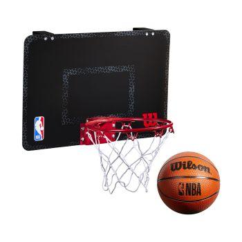 Wilson NBA FORGE TEAM MINI HOOP, košarkarska tabla z obročem, črna