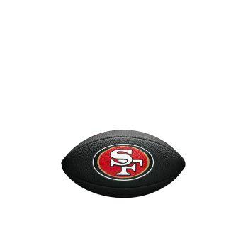 Wilson NFL TEAM LOGO MINI - 49ERS, črna