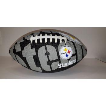 Wilson NFL TEAM LOGO - STEELERS, žoga za ameriški nogomet, siva