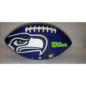 Wilson NFL TEAM LOGO - SEA HAWKS, žoga za ameriški nogomet, modra