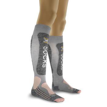X-socks SKIING LIGHT, nogavice ž.smu, siva
